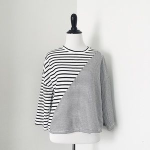 Tops - 3/$10 Boxy Striped Crop Top